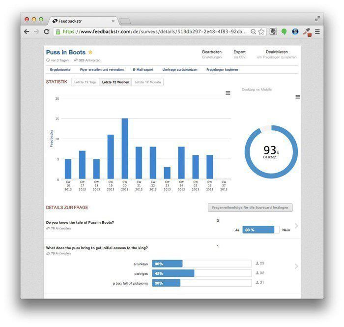 feedbackstr dashboard