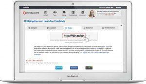 Link zu Ihrem Feedback Formular