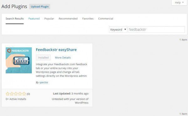 Installing Feedbackstr's easyShare plugin