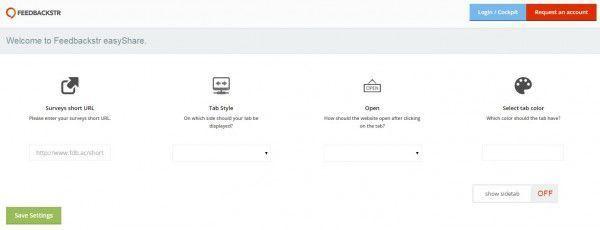 Customizing settings with Feedbackstr's easyShare plugin