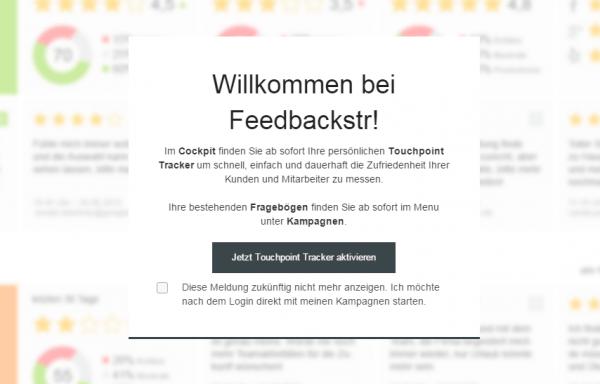Feedbackstr Cockpit gibt Net Promoter Score wider