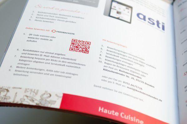 QR-Code zur Bewertung der Kochsternstunden im Begleitheft